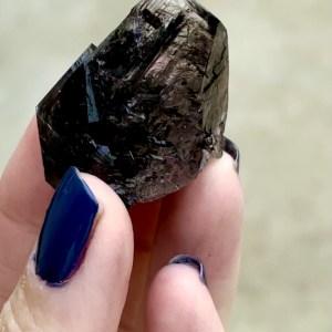 Black Herkimer Phantom Crystal