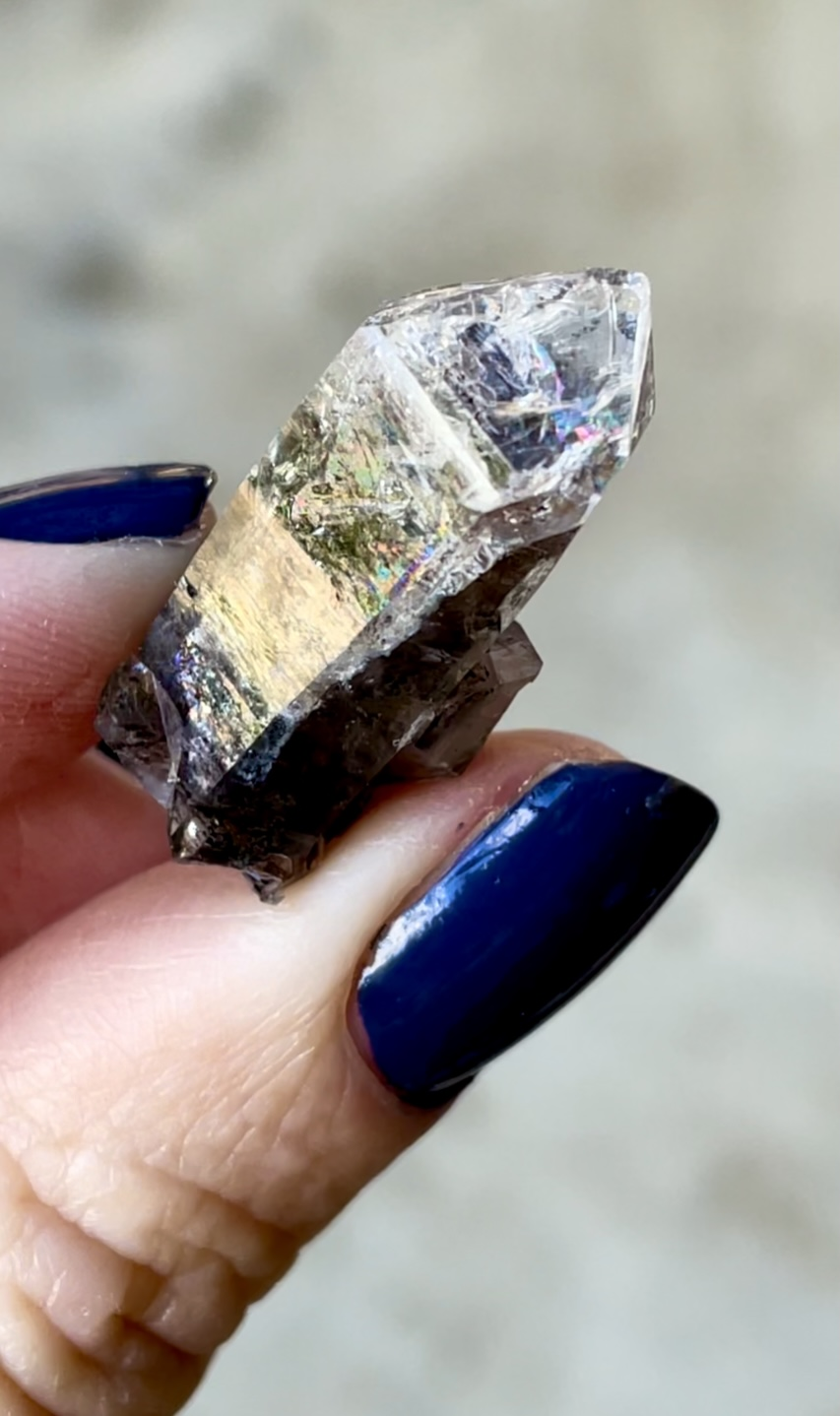 Black Herkimer Jewelry Point