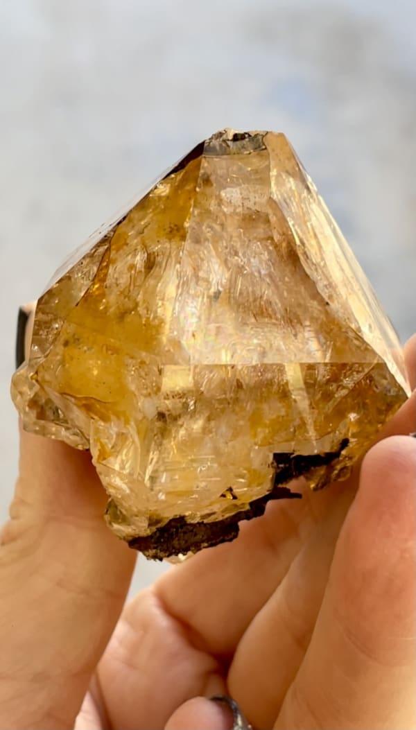 Herkimer golden healer crystal