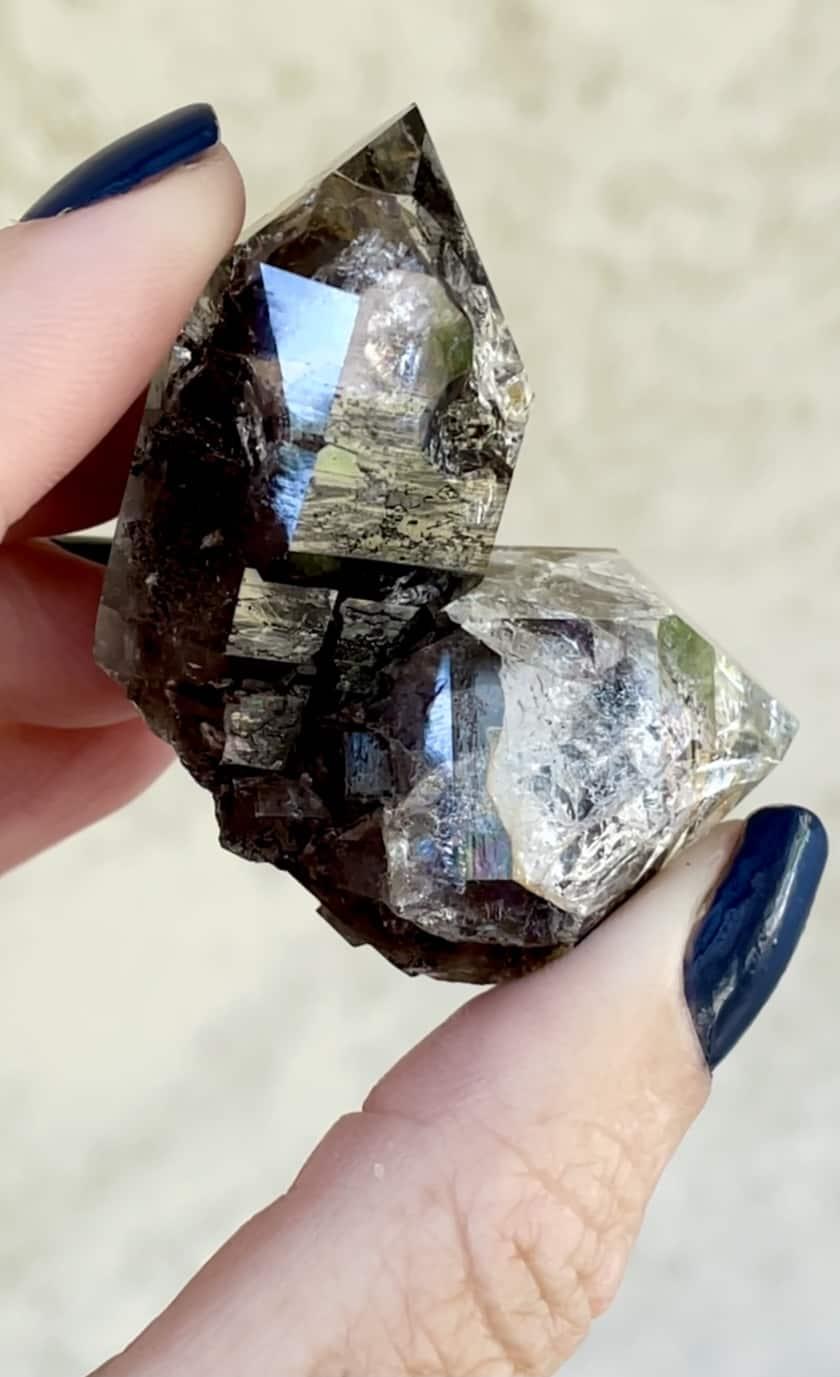 Black Herkimer Soul Mate Crystal