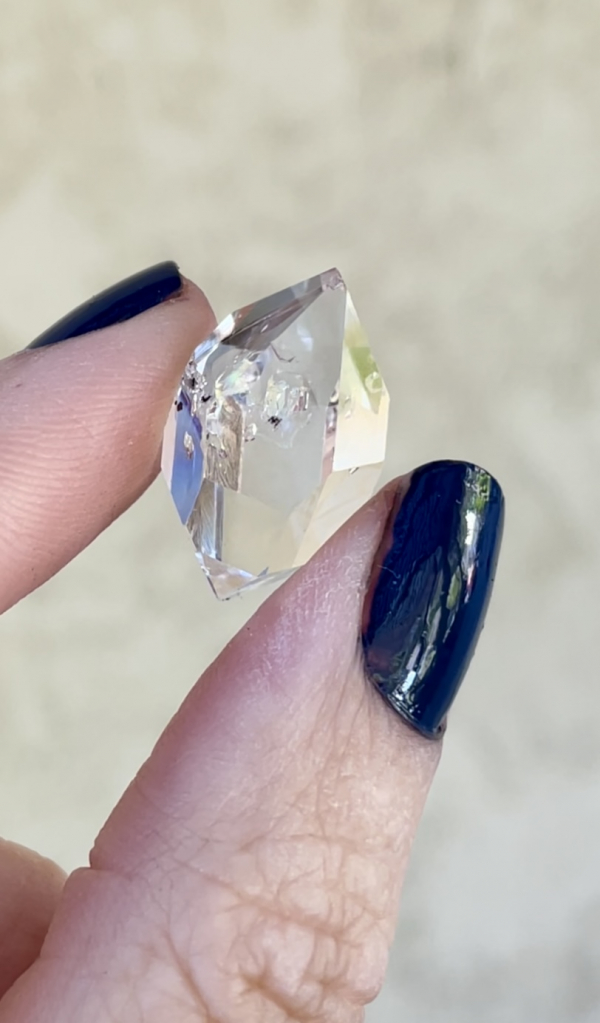 Double terminated herkimer jewelry point