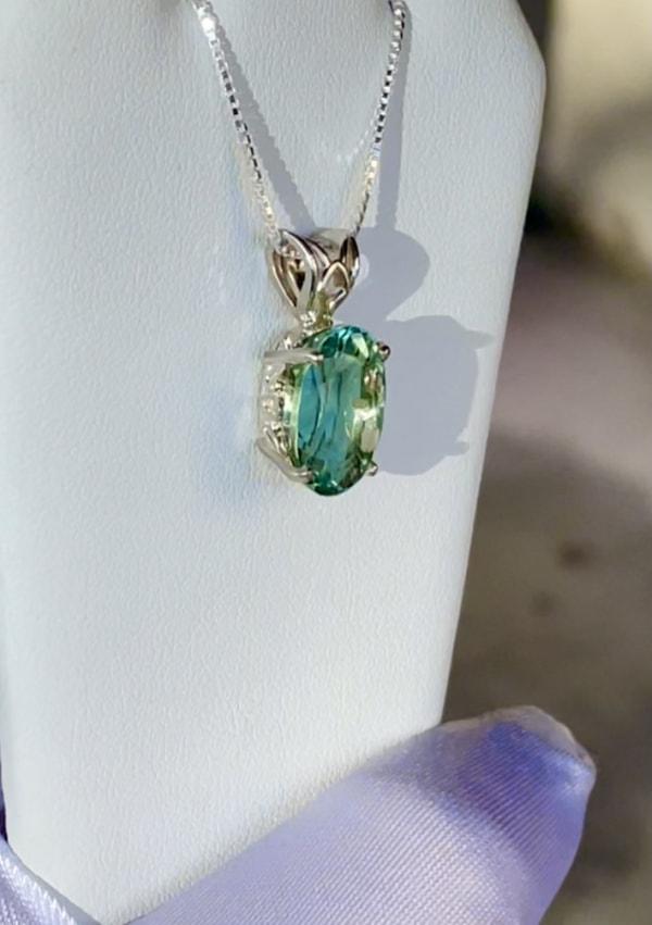 Oval Green Fluorite Pendant