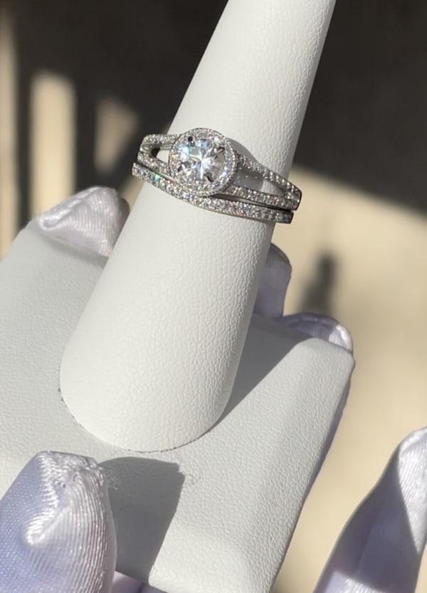 Herkimer Brilliant Cut Wedding Set