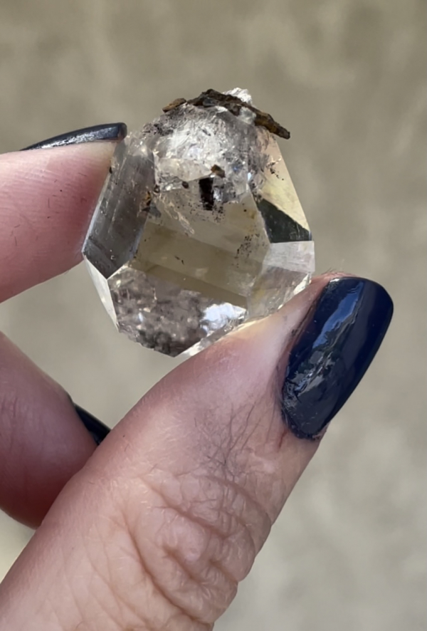 Herkimer Hematite Halo Crystal
