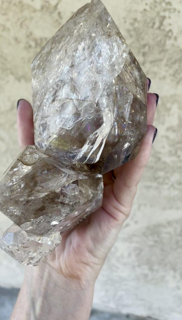 Giant Herkimer Crystal Cluster