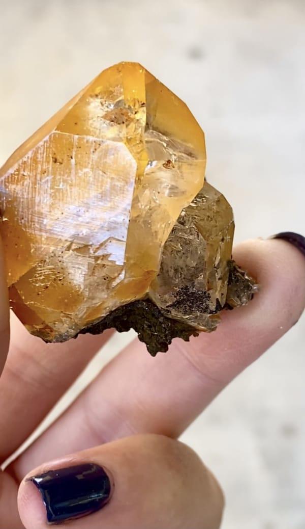 Golden healer crystal cluster