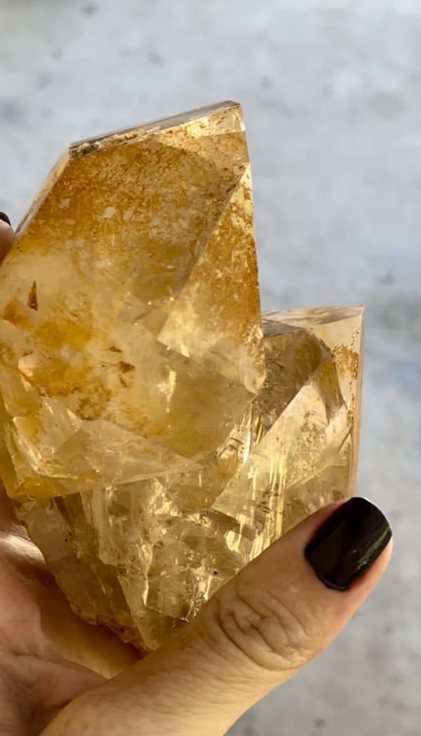 Large golden healer crystal