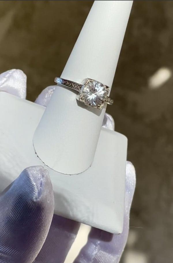 Solitaire Art Deco Filigree Ring