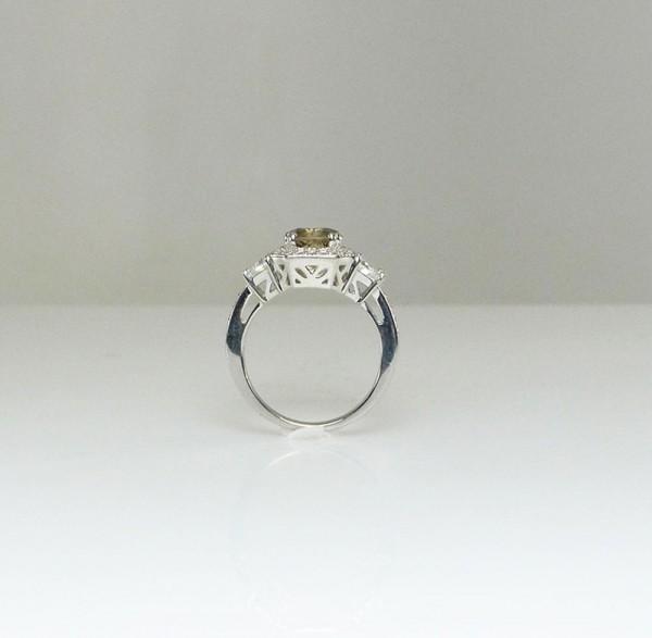 round champagne art deco ring