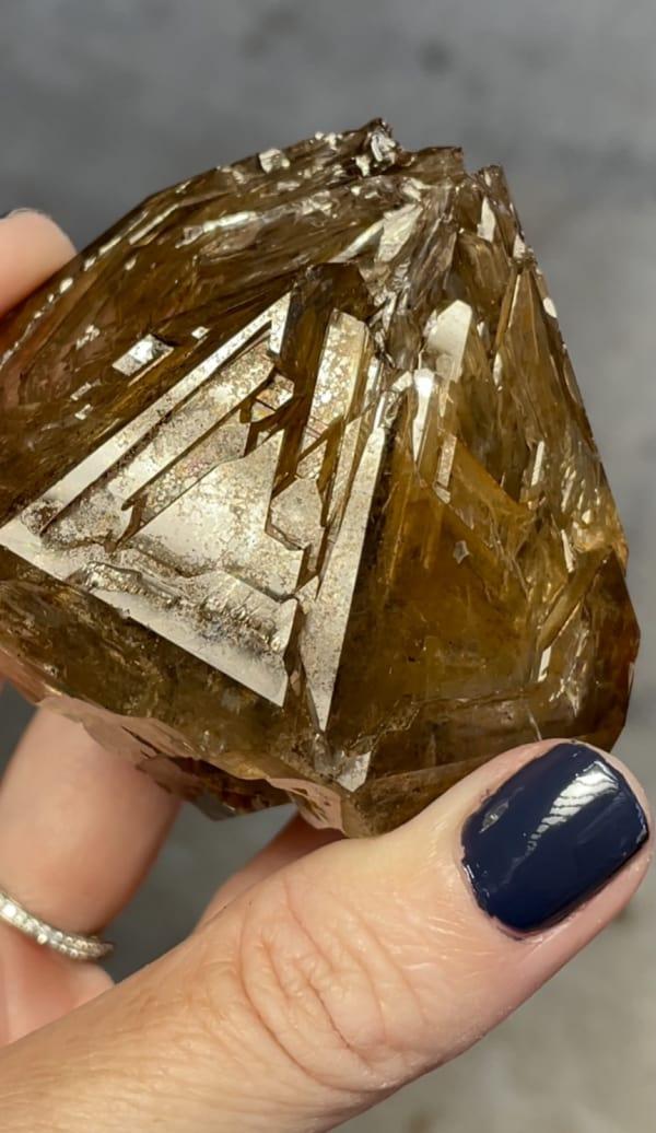 Skeletal herkimer golden healer crystal