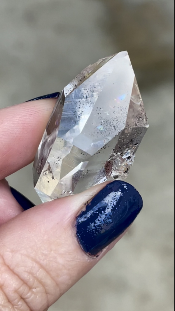 Long herkimer jewelry point