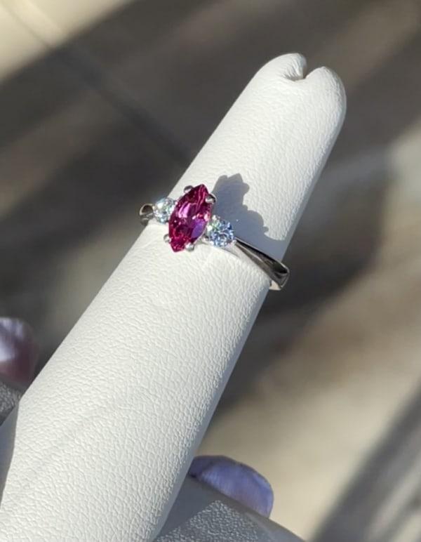 Marquise Pink Tourmaline Ring