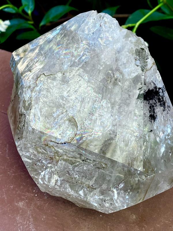 Large meditation herkimer crystal