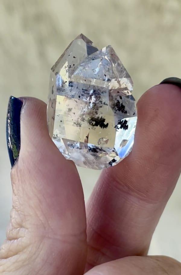Herkimer jewelry heart point