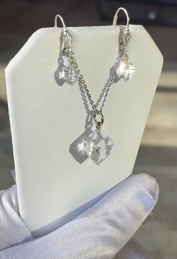 Raw herkimer jewelry set
