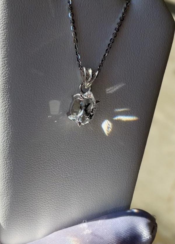 Rustic Raw Crystal Pendant