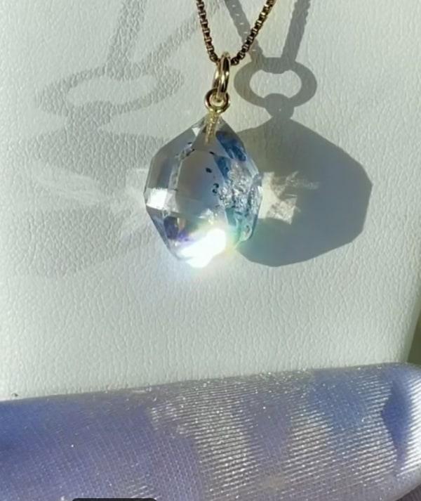 Raw Crystal Gold Pendant