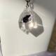 Raw crystal white gold pendant