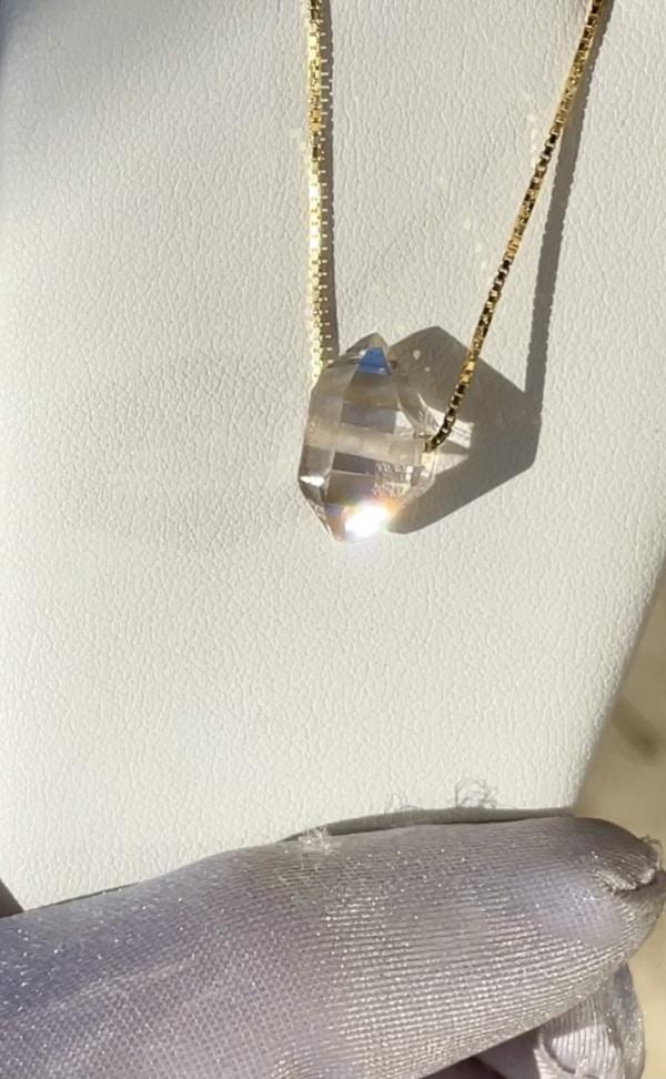 Herkimer east west crystal pendant