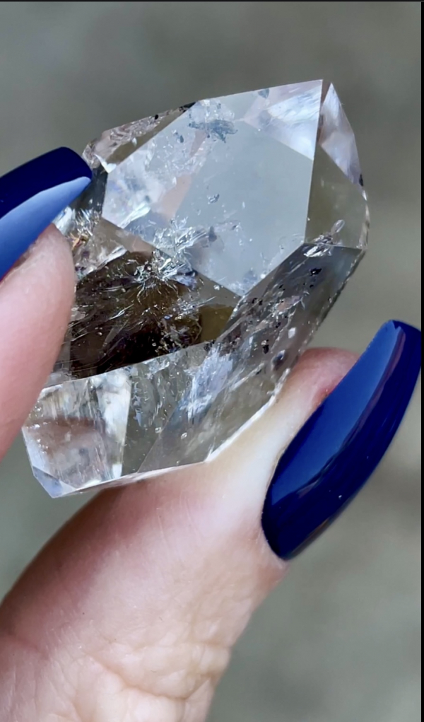 Clear herkimer jewelry point
