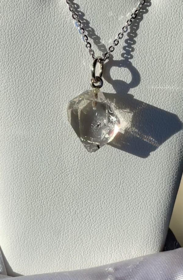 Herkimer crystal sterling pendant