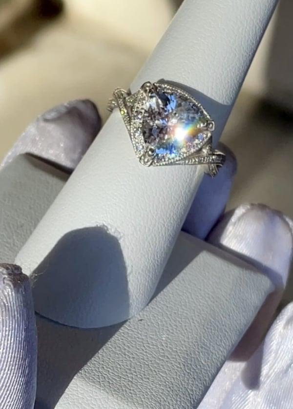Trillion Herkimer Halo Ring