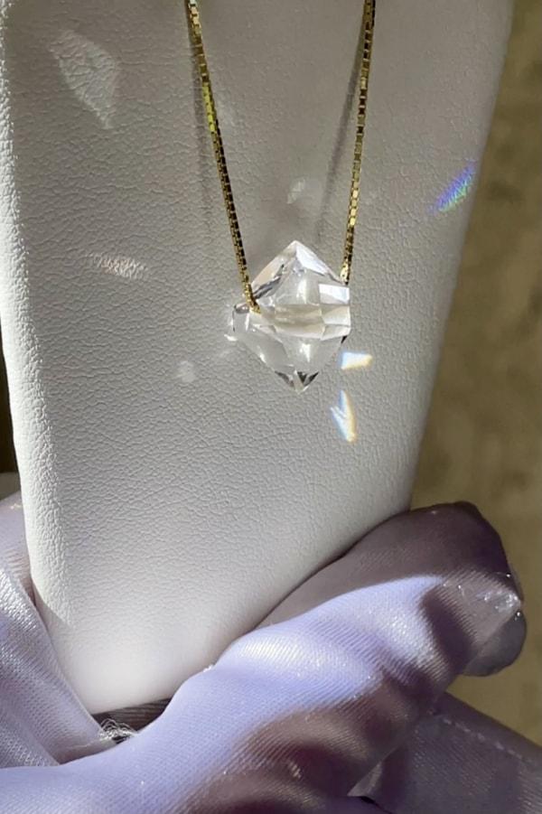 Herkimer east west herkimer pendant