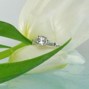 Dainty round herkimer ring